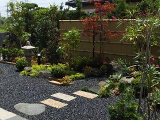 モダン和風庭園工事